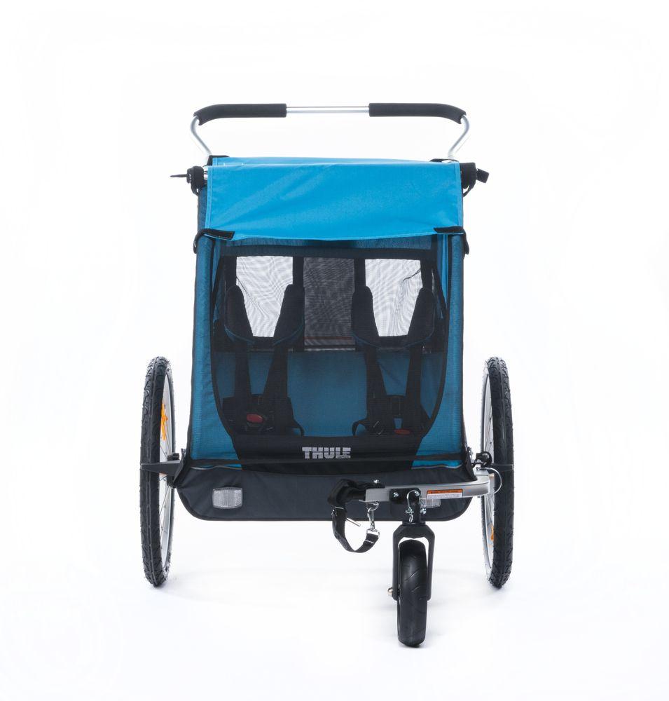 Велоприцеп детский Thule Chariot Coaster2, с велосцепкой и прогулочным наборомMW-1462-01-SR серебристыйThule Coaster XT - Thule Coaster — прочный велосипедный прицеп, гарантирующий безопасную и комфортную езду, который легко трансформируется в прогулочную коляску по прибытии в пункт назначения.