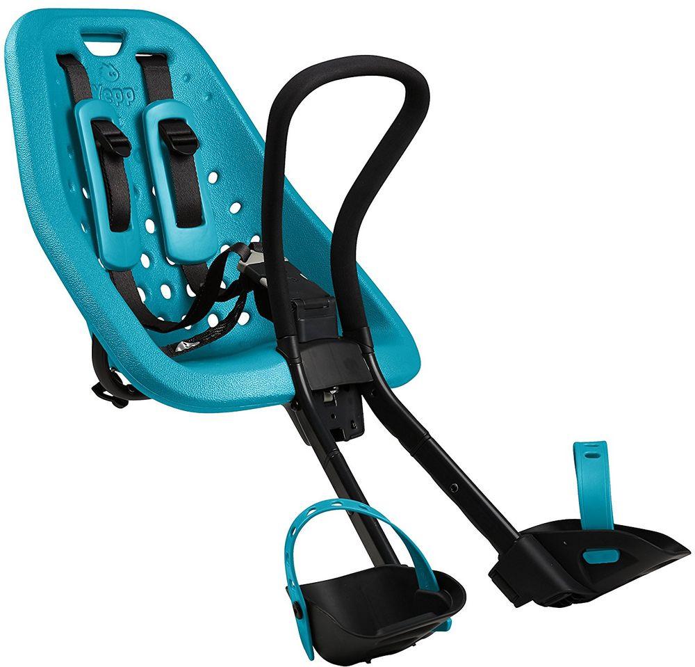 Детское велокресло Thule Yepp Mini, цвет: морская волна7292Детское велосипедное сиденье. Благодаря мягкому и прочному детскому сиденью ребенок может безопасно и комфортно ездить на передней части велосипеда.