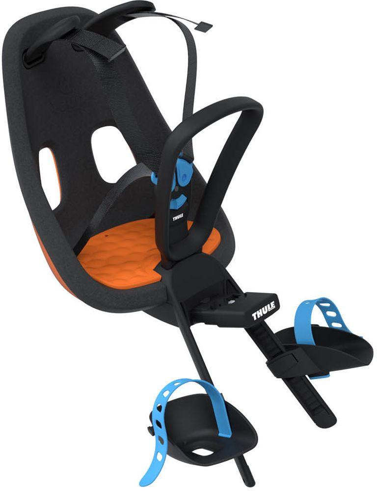 Детское велокресло Thule Yepp Nexxt Mini, цвет: оранжевыйMW-1462-01-SR серебристыйДетское велосипедное кресло для установки на раму велосипеда.