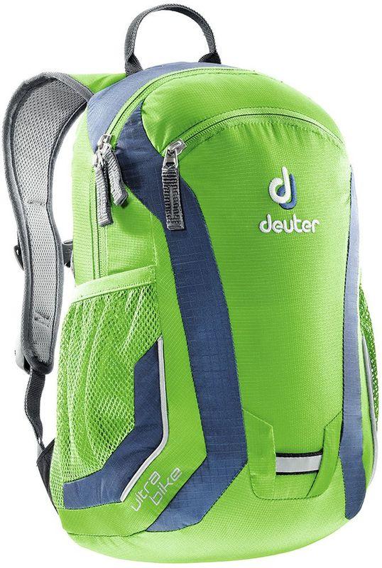 Deuter Рюкзак дошкольный Ultra Bike цвет сине-бирюзовый72523WDЭтот рюкзак для самых юных спортсменов-байкеров в ыдержан в одном стиле с рюкзаками для взрослых. Этот уменьшенный вариант рюкзака Bike One имеет спинку, адаптированную под детскую анатомию и рассчитанна детей от 5 лет. В этом сезоне Ultra Bike – в новом цвете.- Система вентиляции спины Airstripes- анатомические мягкие плечевые лямки- нагрудный ремень- передний карман на молнии- два сетчатых боковых кармана- отражатели 3M со всех сторон и отражающая петля для проблескового фонарика- бирка с именем внутри- совместимость питьевой системойМатериал: Microrip-Nylon / HexLite 210