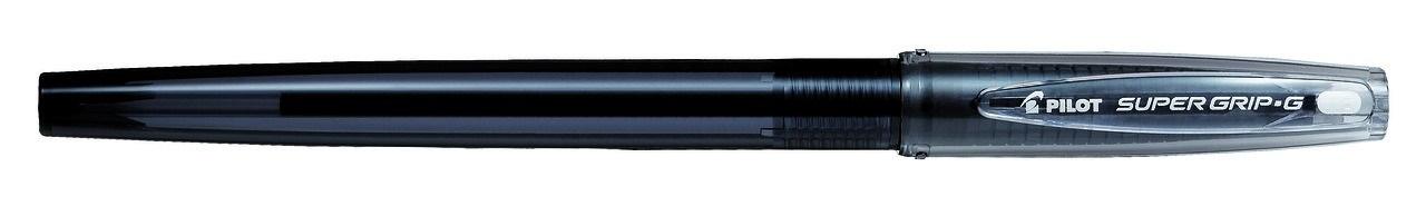 Pilot Ручка шариковая Super Grip G цвет черный72523WDSuper Grip G- новая неавтоматическая многоразовая шариковая ручка с новыми ультрамягкими чернилами. Цвет тонировки корпуса соответствует цвету чернил. Вентилируемый колпачок. Новая форма резинового упора для пальцев предотвращает усталость и скольжение пальцев при письме. Упор для пальцев более длинный, чем у большинства ручек для того, чтобы каждый потребитель смог найти для себя удобное положение пальцев. Ручка подходит для нанесения логотипов.Диаметр шарика F (fine) – 1,0 мм.Толщина линии письма 0,27 мм.Сменный стержень RFJ-GP-M.Цвет чернил - черный.