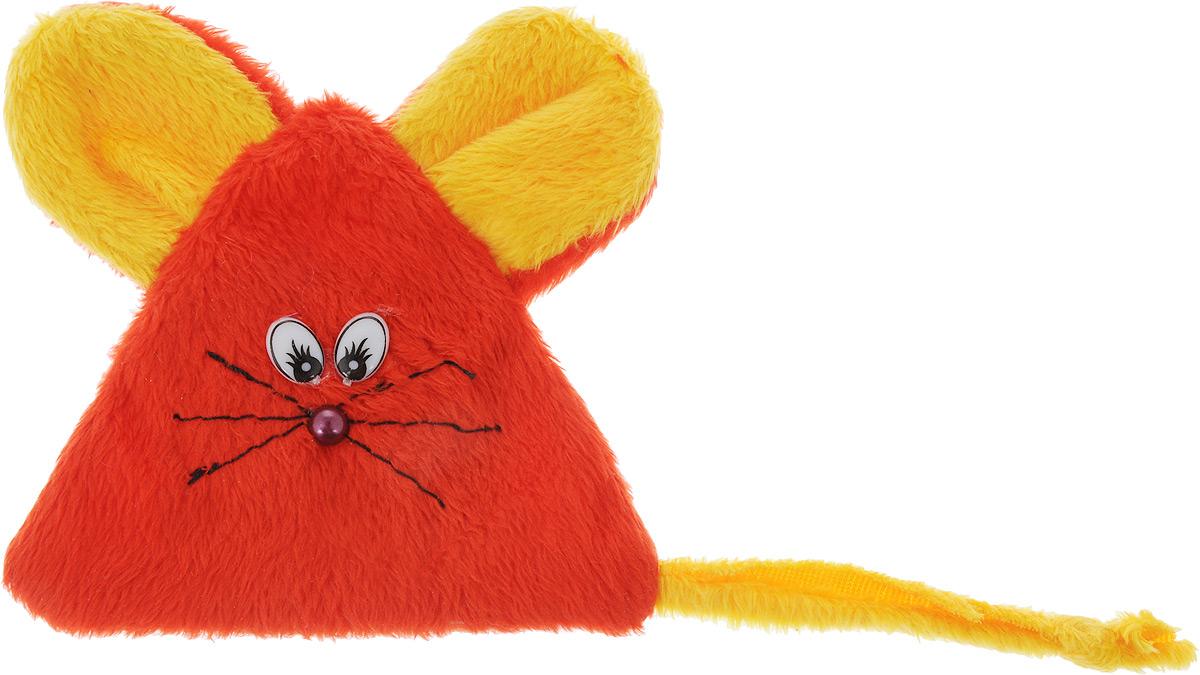 Игрушка для кошек GLG Мышь на липучке, с экстрактом кошачей мяты, цвет: красный, желтыйsh-07105MИгрушка для кошек GLG Мышь на липучке выполнена из мягкого текстиля. Играя с этой забавной игрушкой, маленькие котята развиваются физически, а взрослые кошки и коты поддерживают свой мышечный тонус. Изделие выполнено в виде мыши. Внутри расположен мешочек с кошачьей мятой, который привлечет кошку. Кошачья мята - растение, запах которого делает кошку более игривой и любопытной. С помощью этого средства кошка легче перенесет путешествие на автомобиле, посещение ветеринарного врача, переезд на новую квартиру.