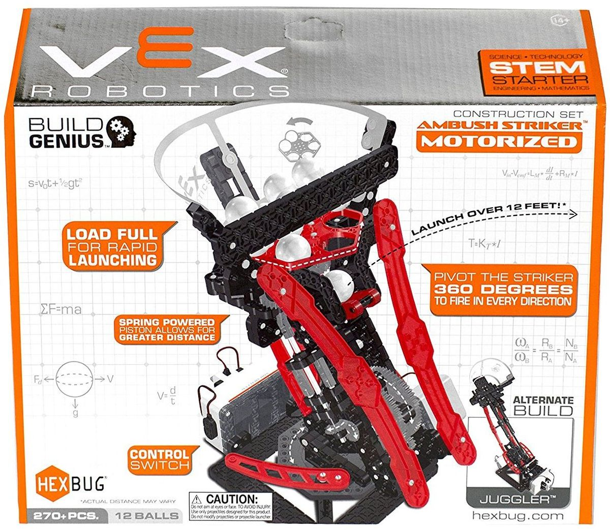 Hexbug Конструктор Vex Ambush Striker hexbug конструктор vex crossbow launcher