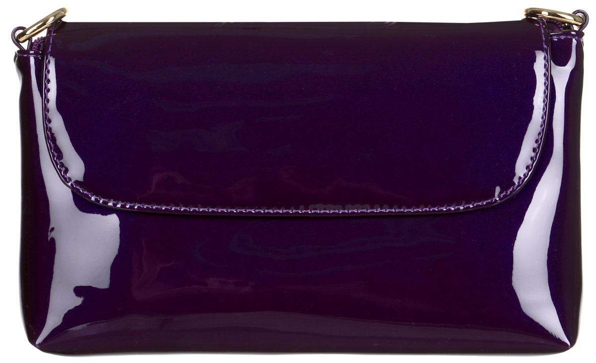 Клатч Orsa Oro, цвет: фиолетовый. D-204/7S76245Клатч Orsa Oro выполнен из искусственной кожи и дополнен клапаном на магнитной кнопке. Модель с одним отделением на молнии, задним карманом на молнии, внутренним карманом на молнии и карманом для телефона. Клатч оснащен регулируемым плечевым ремнем.