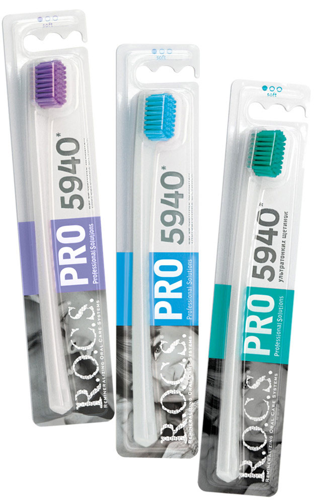 R.O.C.S Зубная щетка PRO, мягкаяMP59.4DОсобая форма щетины с уникальным треугольным сечением образует 3 чистящих ребра, повышая эффективность чистки поверхности зубов. Способствует деликатному массажу десен, качественно и мягко удаляет зубной налет и очищает промежутки между зубами.