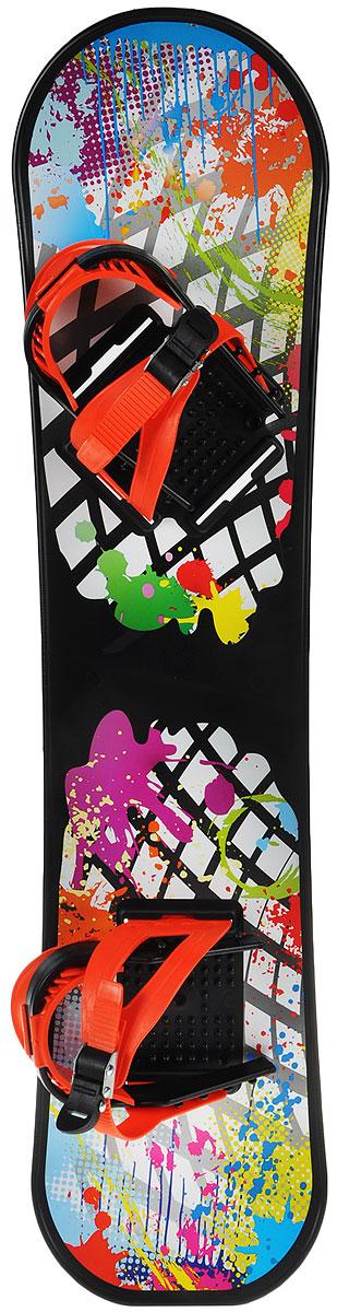 Сноуборд детский Цикл, с креплениями, цвет: черный, оранжевыйХот ШейперсЛюбимая детская зимняя забава - это кататься с горки. Сноуборд Цикл станет незаменимым атрибутом этой веселой детской игры. Сноуборд выполнен в виде скейтборда, только вместо колесиков расположены два крепления из пластика для ног. Отличная скорость, прочный материал и захватывающий спуск с горки - вот что может предоставить сноуборд Цикл. Благодаря небольшому весу, сноуборд легко носить с собой даже ребенку.Предназначен для детей, старше 5 лет. Предельная допустимая нагрузка: 50 кг.