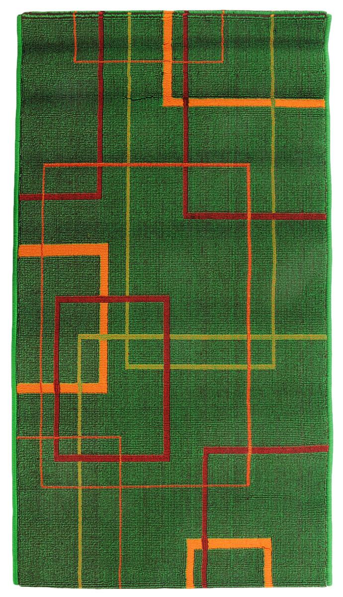 Коврик прикроватный Oriental Weavers Дaззл, цвет: зеленый, 67 х 120 см. 15033A3964LM-8WHЯркая циновка с мягким и упругим ворсом - неповторимый элемент для гостиных и детских комнат. Оригинальный ковер от известной египетской фабрики Oriental Weavers подойдет для современных и классических интерьеров.