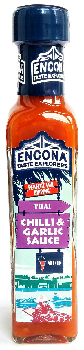 Encona Чили с чесноком соус, 142 мл0120710Соус содержит натуральные ингредиенты, преимущественно пюре из перца чили, что придает ему пикантность и сумасшедший вкус. Преобразит и удачно дополнит блюда из мяса и овощей. Вниманию аллергиков: содержит молоко.