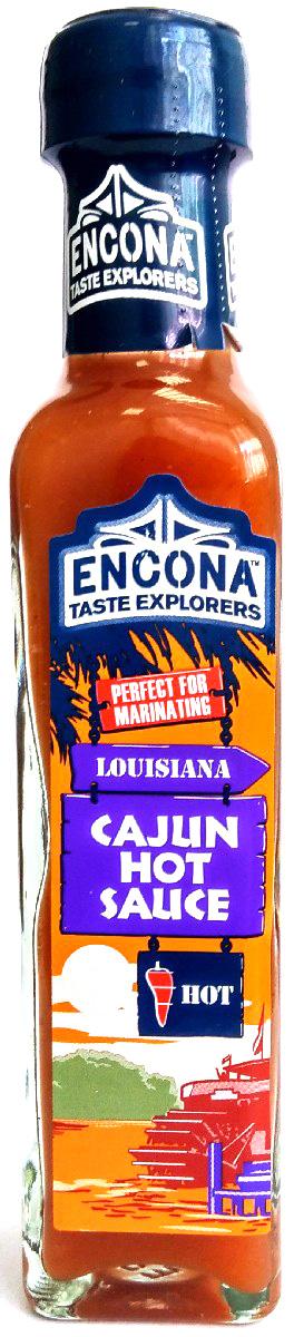 Encona Острый кайенский перец соус, 142 мл259710Острый соус приготовлен по традиционному рецепту из кайенского перца, соли, лимонной кислоты, сахара. В качестве стабилизатора используется ксантовая камедь. Соус не содержит глютена. Классический, острый каджунский вкус отлично подходит для большинства мясных блюд приготовленных на гриле.