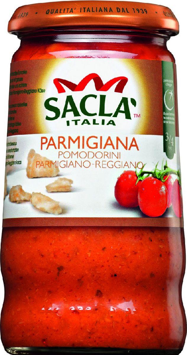 Sacla Parmigiana Pomodorini Parmigiano - Reggiano с цельными томатами Черри и сыром Пармезан соус Пармиджана, 350 г0120710Соус с цельными томатами черри и сыром пармезан.