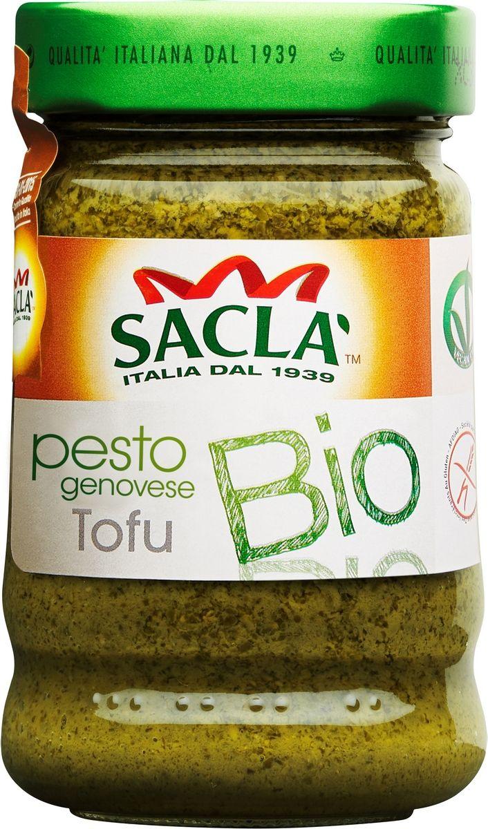 Sacla Pesto genovese Tofu Bio с тофу песто-соус по-генуэзски Био, 190 г0120710Веганские соусы