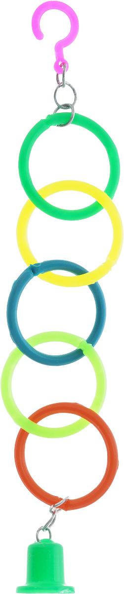 Кольца для птиц Каскад0120710Кольца для птиц Каскад, выполненные из пластика, не позволят скучать вашему попугаю. Изделие фиксируется в клетке с помощью крючка. Такая игрушка привлечет внимание вашего любимца, не навредит здоровью и займет его на долгое время.Диаметр кольца: 4 см