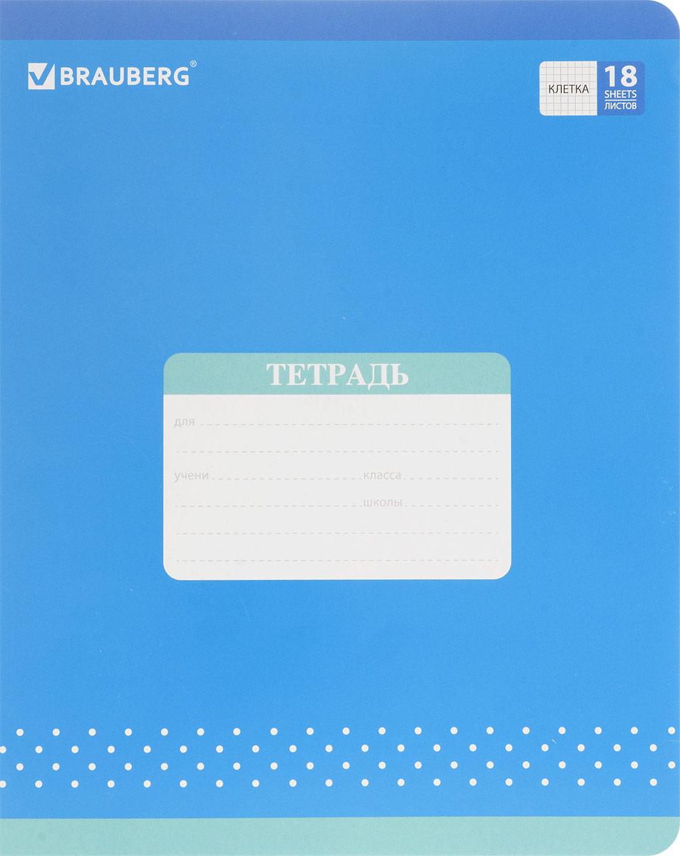 Brauberg Тетрадь Cats Cradle 18 листов в клетку цвет синий72523WDОбложка тетради Brauberg Cats Cradle с закругленными углами выполнена из плотного картона, что позволит сохранить ее в аккуратном состоянии на протяжении всего времени использования. На задней обложке находятся меры длины, меры объема, меры массы, меры площади и таблица умножения.Внутренний блок тетради, соединенный двумя металлическими скрепками, состоит из 18 листов белой бумаги. Стандартная линовка в клетку голубого цвета дополнена полями.