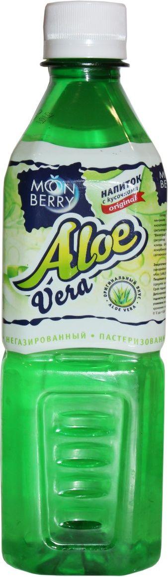 Мооnberry напиток Алоэ, 500 мл00000040634Напиток безалкогольный негазированный пастеризованный с кусочками Алоэ.