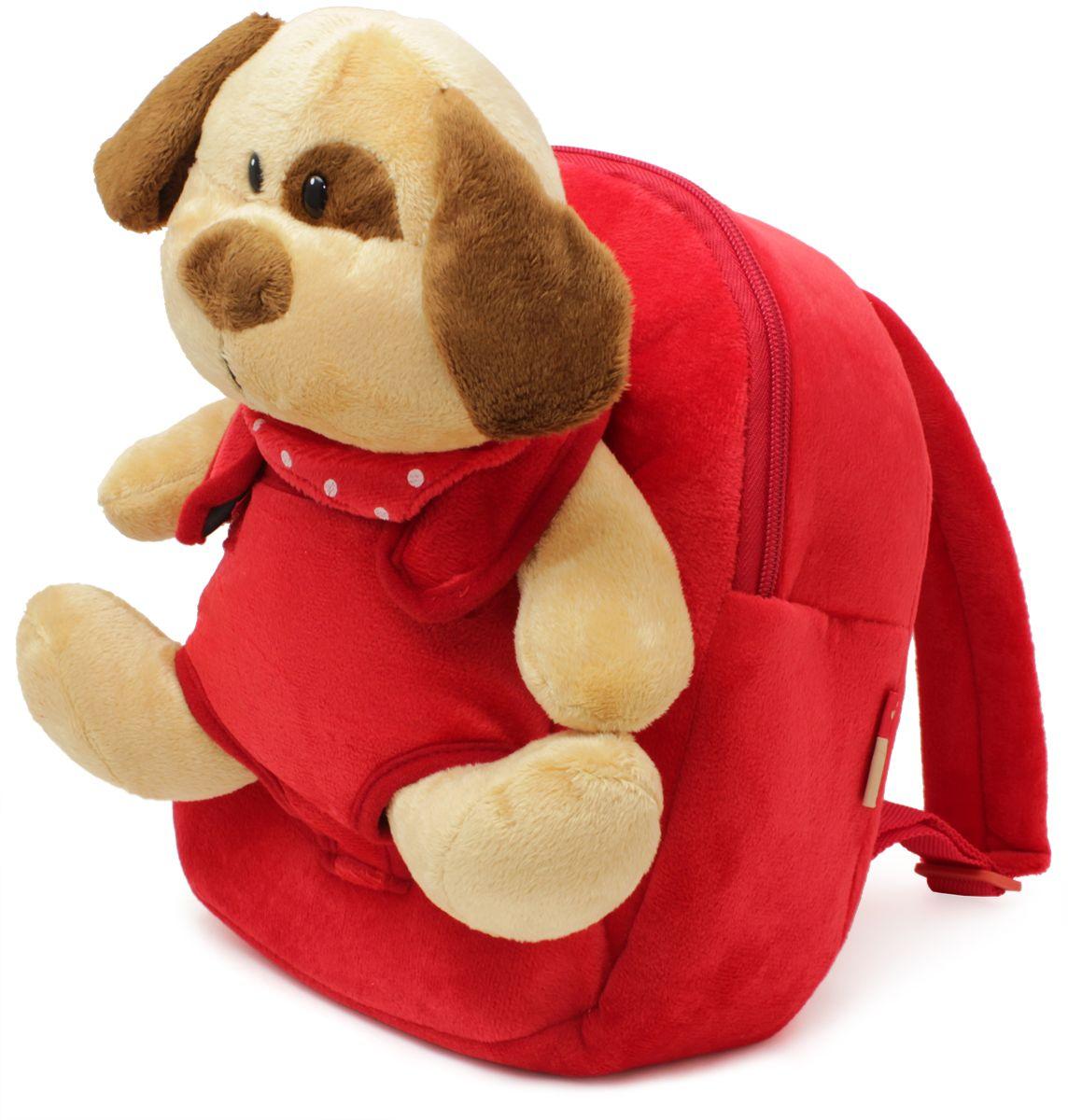 Феникс+ Рюкзак детский Плюшевый щенок цвет красный40091Рюкзак детский.Характеристики:- 1 большое отделение на молнии.- Ручка для переноски в руках.Длина лямок регулируется.Украшен игрушкой щенка.Размер: 21 x 26 x 8,5 см.Материал: 100% полиэстер.Для детей 3-6 лет.