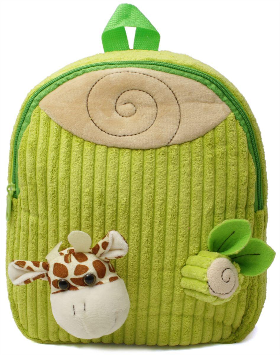 Феникс+ Рюкзак дошкольный Жирафик 4345543455Дошкольный рюкзак Феникс+ имеет одно большое отделение на застежке-молнии.Рюкзак оснащен ручкой для переноски в руках и лямками регулируемой длины. Лицевая сторона рюкзака украшена объемными игрушками-аппликациями.Такой рюкзак идеально подойдет для хранения важных вещей, которые так необходимы детям на детской площадке, во время прогулки или на пикнике.