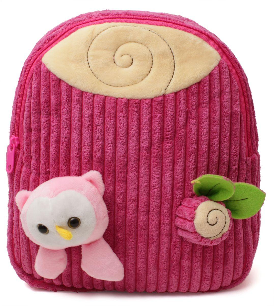 Феникс+ Рюкзак детский Совенок цвет розовый72523WDРюкзак детский имеет:- 1 большое отделение на молнии.- Ручку для переноски рюкзака в руках.Длина лямок регулируется.Объемные игрушки-аппликации.Материал: полиэстер.Размер: 28 х 24 х 8 см.Для детей 3-6 лет.