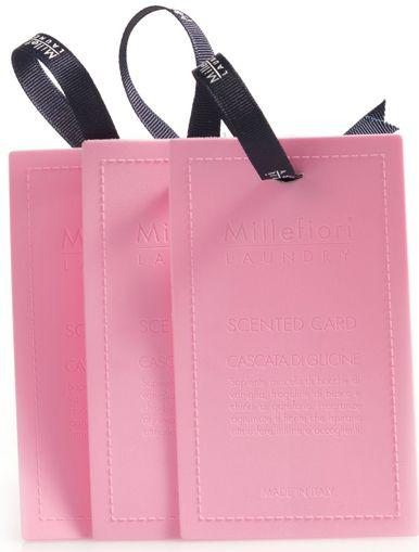 Ароматические карточки Millefiori Milano Laundry Шепот Водопада / Cascata Di Glicine, цвет: розовый, 3 шт66TGCGБазовые ноты: Аромат Стручков ВанилиСредние ноты: ЗемляникаВерхние ноты: Гвоздика