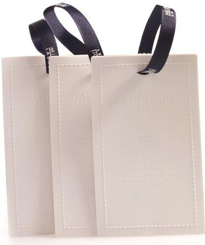 Ароматические карточки Millefiori Milano Laundry Жемчужина / Perla, цвет: белый, 3 шт12723Базовые ноты: Нежный Аромат Лепестков РозСредние ноты: Мускатный ОрехВерхние ноты: Классические Древесные Ароматы