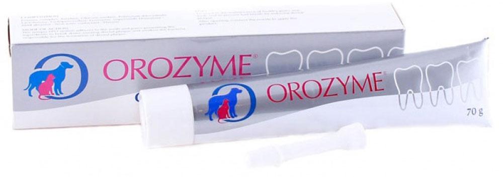 Гель для животных Orozyme, 70 г0120710Orozyme (Орозим - гигиенический гель, который предназначен для эффективного ухода за полостью рта питомцев различных видов.Форма выпуска: тюбик (70 г) с аппликатором в картонной упаковке.Область применения: Для ежедневного ухода за зубами и деснами.Содержащиеся вещества: Запатентованный LPO-комплекс: амилаза, глюкоамилаза, глюкозооксидаза, лактопероксидаза, супероксиддисмутаза (SOD), лизоцим, лактоферрин, мягкие полирующие компоненты, неионный сурфактант, вкусовые добавки.Общие рекомендации по способу применения и дозировке:Применять один раз в день - три раза в неделю, можно чаще. Собакам, кошкам, хорькам: давать прямо в пасть, желательно смазывать зубы и десны (данный способ наиболее эффективен). Дозировка: Мелким животным: 1 см геля.Животным до 20 кг: 2 см геля.Животным более 20 кг: 5 см геля.К упаковке прилагается аппликатор, который облегчает введение геля кошкам, хорькам, маленьким собакам и другим животным. Чистка обычной щеткой не обязательна. При необходимости, зубы питомца можно предварительно почистить у ветеринара.Хранение Orozyme (Орозим): Хранить в сухом прохладном месте!Изготовитель: Ecuphar NV/SA, Legeweg 157 I, 8020 Oostkamp, Belgium (Экуфар НВ/СА, Легевег 157 И, 8020 Оосткамп, Бельгия)Не является лекарственным препаратом.