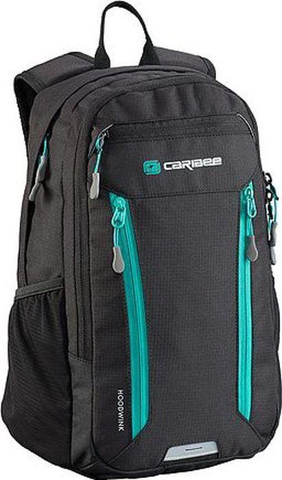 Рюкзак Caribee Hoodwink, цвет: черный, 16 лRivaCase 8460 aquamarineКомпактный городской рюкзак с несколькими отделениями и мягкой системой подвески. Передние карманы на молнии отлично подойдут для телефона и для ключей.