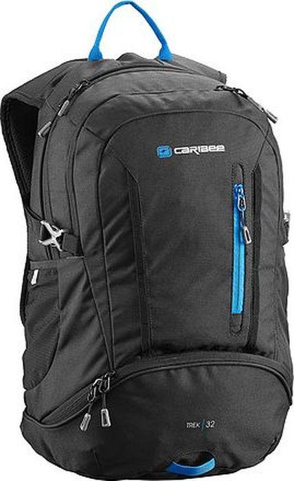 Рюкзак Caribee Trek, цвет: черный, 32 л1629.021Большой рюкзак с мягкой подвесной системой подойдет для городских прогулок, путешествий. Ранец снабжен дождевиком, регулируемым нагрудным карманом, а также передним карманом для органайзера.