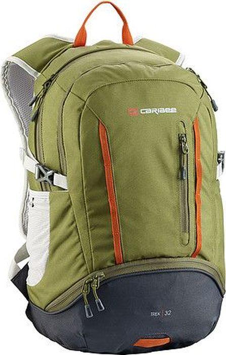 Рюкзак Caribee Trek, цвет: оливковый, черный, 32 л332515-2800Большой рюкзак с мягкой подвесной системой подойдет для городских прогулок, путешествий. Ранец снабжен дождевиком, регулируемым нагрудным карманом, а также передним карманом для органайзера.