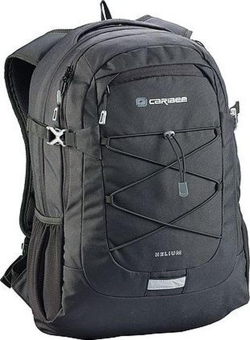 Рюкзак Caribee Helium, цвет: черный, 30 л6065Стильный рюкзак Caribee Helium идеально подойдет как для учебы, так и для городских прогулок и походов. В главном отделении формата А4 есть необходимые для учебы - карманы для ноутбука (28х40 см и для планшета (25х28 см). Передний карман снабжен дополнительным отделением для телефона. Также есть вместительные боковые карманы.Особенности модели:- спинка рюкзака имеет удобное строение и мягкую обивку,- лямки S-образной формы можно адаптировать под рост за счет подвесной системы,- благодаря стяжкам объем рюкзака можно регулировать,- материал устойчив к перепадам температуры и света, ультрафиолета и влаги.