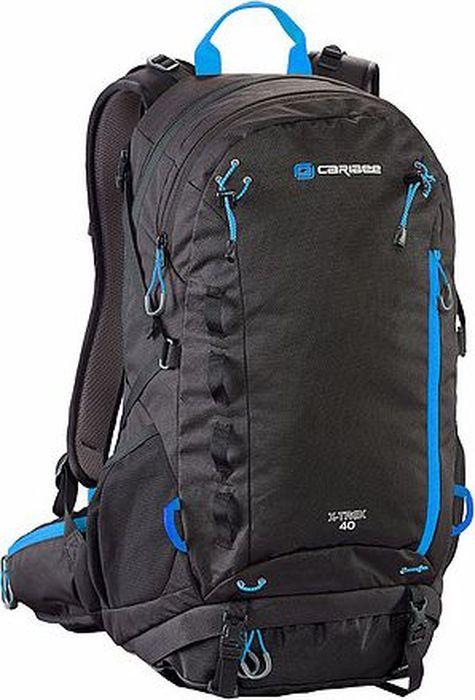 Рюкзак Caribee X-Trek, цвет: черный, синий, 40 л6383Рюкзак Caribee X-Trek предназначенный для городских прогулок и дневных походов. Особенности модели:- два объемных внутренних отделения,- оснащен мягкой регулируемой лямочной системой,- компрессионная система и фиксирующий нагрудный ремень для плотной посадки рюкзака на спине,- спинка изделия изготовлена по системе AirFlow, которая позволяет воздуху свободно циркулировать,- рюкзак имеет вместительное основное отделение на молнии,- в переднем кармане расположен удобный органайзер,- дополнительно рюкзак оснащен плоским карманом на передней панели рюкзака, боковыми карманами, потайным карманом на молнии и ручкой для переноски,- к рюкзаку можно прикрепить фонарик для езды на велосипеде в темноте,- рюкзак совместим с питьевой системой,- материал рюкзака устойчив к разрывам, истиранию, попаданию влаги, хорошо чистится.