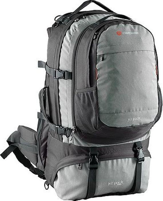 Рюкзак для путешествий Caribee Jet Pack, цвет: темно-серый, 65 л68052Легкий и универсальный рюкзак Caribee Jet Pack отлично подойдет для путешествий. Регулируемая система подвески главного отделения. Внутренний разделитель отделяет верхний и нижний отделы. Рюкзак оснащен специальным отсеком для обуви. Блокируемые отделения для повышенной безопасности.Особенности модели:- рюкзак имеет металлический каркас спинки,- спинка имеет удобное строение и мягкую обивку,- лямки S-образной формы можно адаптировать под рост за счет подвесной системы,- материал устойчив к перепадам температуры и света, ультрафиолета и влаги,- дополнительно Jet Pack оснащен съемным рюкзаком.