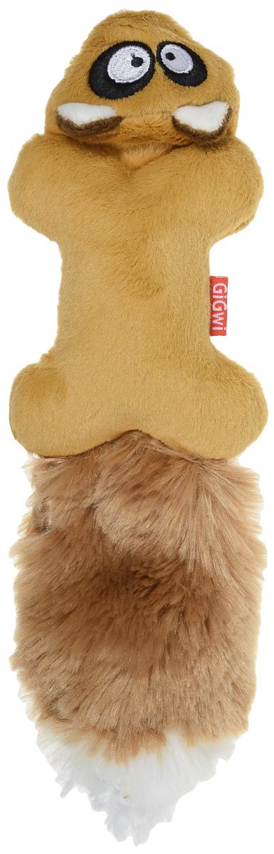 Игрушка для собак GiGwi Белка, с пищалками, длина 27 см12171996Игрушка для собак GiGwi Белка выполнена из искусственного меха и плотной резины. Игрушка подходит для активной игры. Оригинальная игрушка с пищалкой непременно понравится вашему любимцу.