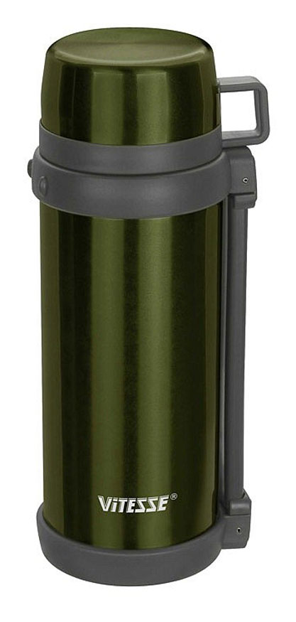 Термос Vitesse, цвет: зеленый, 1500 мл. VS-1412VT-1520(SR)Термос Vitesse, цвет: зеленый, 1500 мл. VS-1412