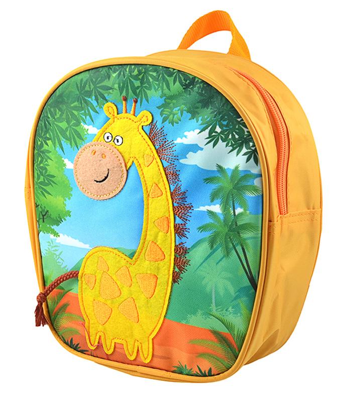 Росмэн Рюкзак дошкольный Жираф цвет желтый730396Дошкольный рюкзак Росмэн Жираф - это удобный, легкий и компактный аксессуар для вашего малыша, который обязательно пригодится для прогулок и детского сада.В его внутреннее отделение на застежке-молнии можно положить игрушки, предметы для творчества или книжку формата А5.Благодаря регулируемым лямкам, рюкзачок подходит детям любого роста. Удобная ручка помогает носить аксессуар в руке или размещать на вешалке.Износостойкий материал с водонепроницаемой основой и подкладка обеспечивают изделию длительный срок службы и помогают содержать вещи сухими в сырую погоду.Аксессуар декорирован ярким принтом (сублимированной печатью), устойчивым к истиранию и выгоранию на солнце, аппликацией из фетра, вышивкой.