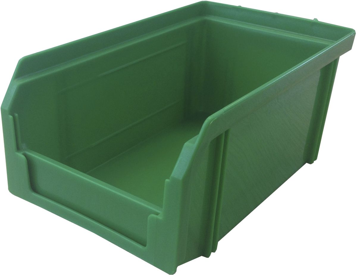 Ящик пластиковый Стелла V-1, цвет: зеленый, 7,5 х 10,2 х 17,1 см466368Пластиковый ящик V-1 (171 х 102 х 75 мм) широко применяется для организации мест хранения мелких деталей, различных комплектующих и запасных частей различных узлов и агрегатов. Передняя стенка имеет возможность наращивания для увеличения объема ящика. Специальный карман на лицевой части позволяет размещать ярлык с описанием ассортимента хранящихся мелочей для более быстрого поиска необходимого контейнера.Вес, кг: 0,10.Габариты, мм: 171 x 102 x 75. Объем 1 литр. Специальные рукоятки для захвата и перемещения. Возможность установки до 30 ящиков в высоту. Материал изделия - ударопрочный пропилен.