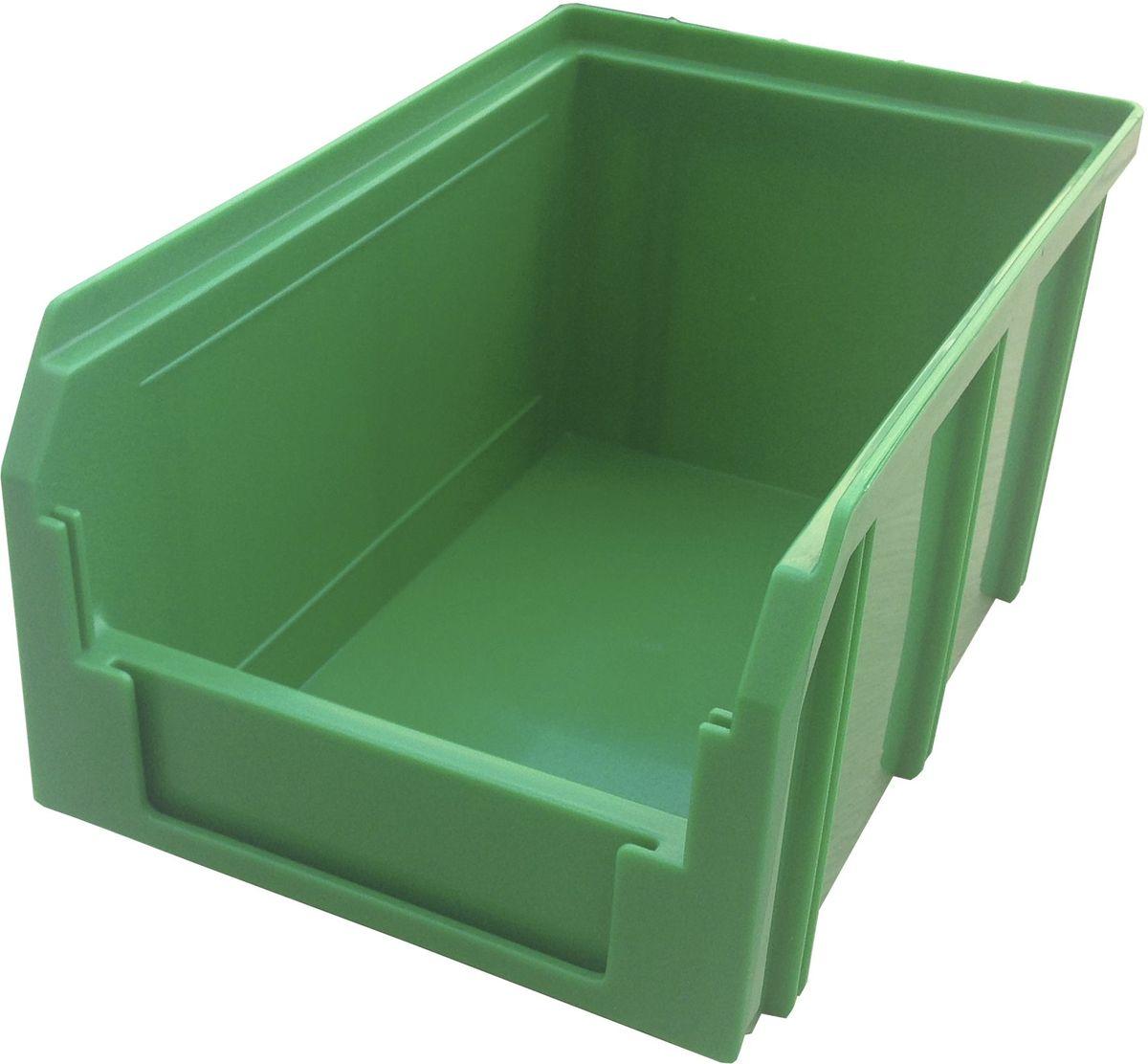Ящик пластиковый Стелла V-2, цвет: зеленый, 23,4 х 14,9 х 12,1 смV-2 зеленыйПластиковый ящик Стелла V-2 применяется на складах для организации мест хранения для различных мелочей, например: деталей, заготовок, комплектующих, крепежа, запчастей и многого другого. Ящик отличается высоким уровнем износостойкости, он полностью выполнен из ударопрочного пластика. Для быстрой идентификации нужного ящика в передней стенке предусмотрен карман для ярлыка с описанием содержимого.Особенности:Объем: 3,8 л. Возможность штабелирования контейнеров друг на друга. Удобные рукоятки. Наличие зацепа для размещения на стойке.