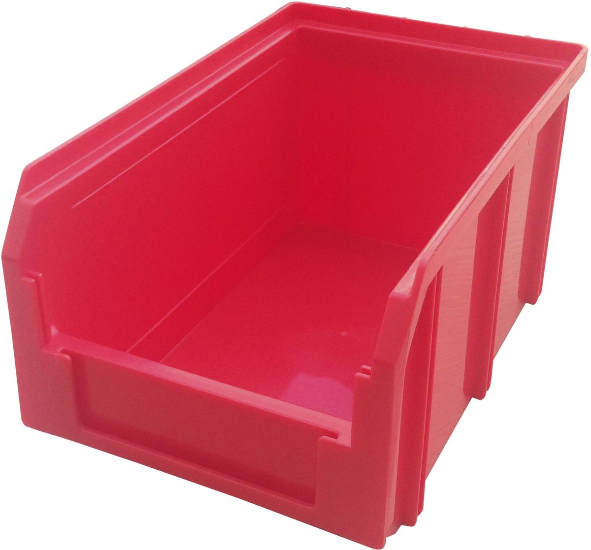Ящик пластиковый Стелла V-2, цвет: красный, 12,1 х 14,9 х 23,4 смBG1163Пластиковый ящик V-2 (234 х 149 х 121 мм) применяется на складах для организации мест хранения для различных мелочей, например: деталей, заготовок, комплектующих, крепежа, запчастей и многого другого. Ящик отличается высоким уровнем износостойкости, он полностью выполнен из ударопрочного материала - полипропилена. Для быстрой идентификации нужного ящика в передней стенке предусмотрен карман для ярлыка с описанием содержимого.Вес, кг: 0,30. Габариты, мм: 234 x 149 x 121. Объем 3,8 л. Возможность штабелирования контейнеров друг на друга. Удобные рукоятки. Наличие зацепа для размещения на стойке.
