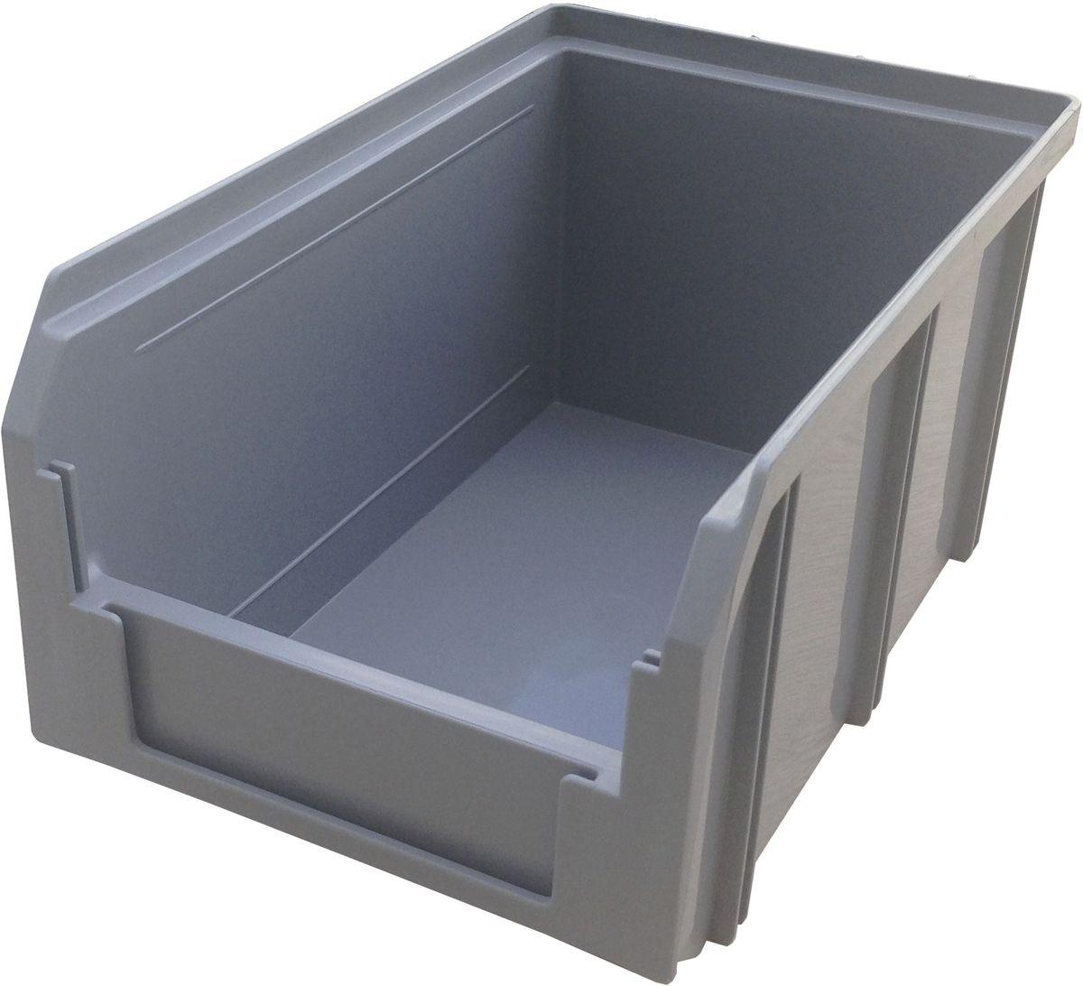 Ящик пластиковый Стелла V-2, цвет: серый, 12,1 х 14,9 х 23,4 см466368Пластиковый ящик V-2 (234 х 149 х 121 мм) применяется на складах для организации мест хранения для различных мелочей, например: деталей, заготовок, комплектующих, крепежа, запчастей и многого другого. Ящик отличается высоким уровнем износостойкости, он полностью выполнен из ударопрочного материала - полипропилена. Для быстрой идентификации нужного ящика в передней стенке предусмотрен карман для ярлыка с описанием содержимого.Вес, кг: 0,30. Габариты, мм: 234 x 149 x 121. Объем 3,8 л. Возможность штабелирования контейнеров друг на друга. Удобные рукоятки. Наличие зацепа для размещения на стойке.