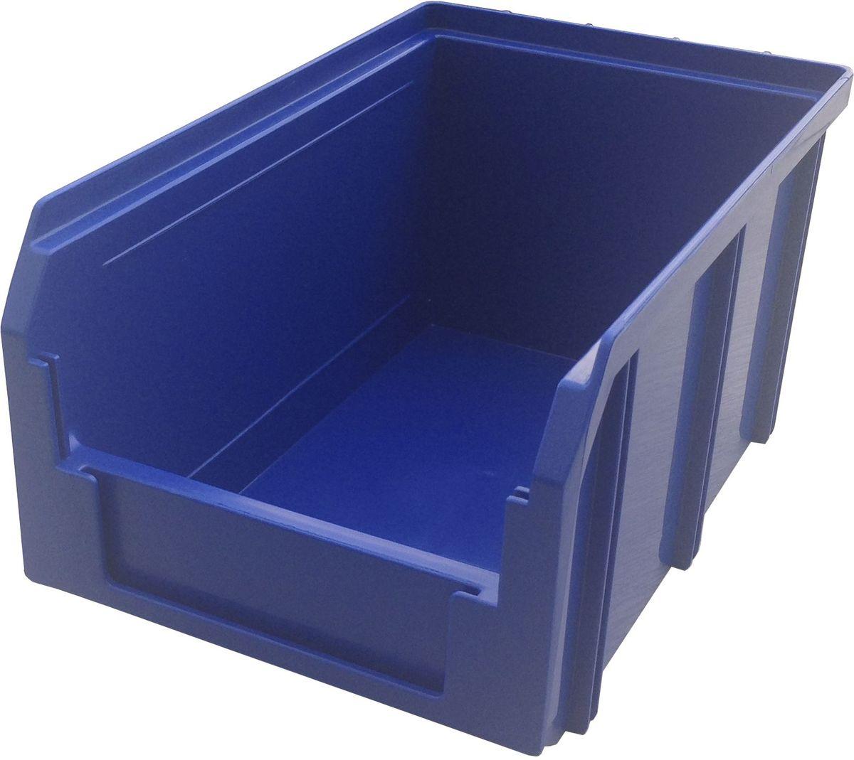 Ящик пластиковый Стелла V-2, цвет: синий, 12,1 х 14,9 х 23,4 смCA-3505Пластиковый ящик V-2 (234 х 149 х 121 мм) применяется на складах для организации мест хранения для различных мелочей, например: деталей, заготовок, комплектующих, крепежа, запчастей и многого другого. Ящик отличается высоким уровнем износостойкости, он полностью выполнен из ударопрочного материала - полипропилена. Для быстрой идентификации нужного ящика в передней стенке предусмотрен карман для ярлыка с описанием содержимого.Вес, кг: 0,30. Габариты, мм: 234 x 149 x 121. Объем 3,8 л. Возможность штабелирования контейнеров друг на друга. Удобные рукоятки. Наличие зацепа для размещения на стойке.