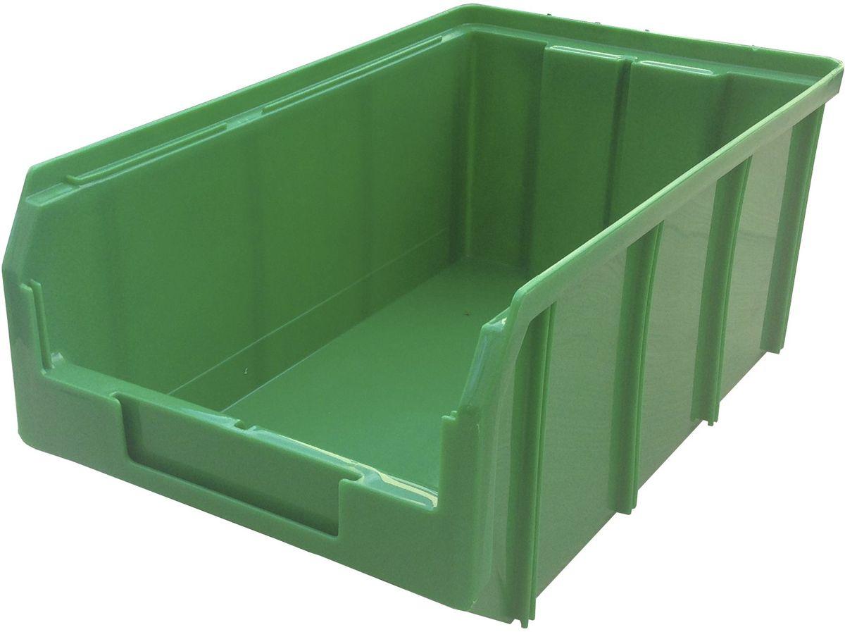 Ящик пластиковый Стелла V-3, цвет: зеленый, 34,1 х 20,7 х 14,3 смV-3 зеленыйПластиковый ящик Стелла V-3 используется на складах для хранения мелких предметов. Лоток имеет возможность наращивания передней стенки и размещения дополнительных разделительных перегородок. Имеется карман на лицевой панели, в котором можно разместить быстросменный ярлык с информацией.Особенности:Объем: 9,4 л. Удобные ручки для транспортировки. Дополнительные ребра жесткости на боковых стенках. Материал - ударопрочный пластик. Возможность штабелирования контейнеров друг на друга в высоту. Зацеп на задней стенке контейнера позволяет прочно фиксировать его на специальных стойках.