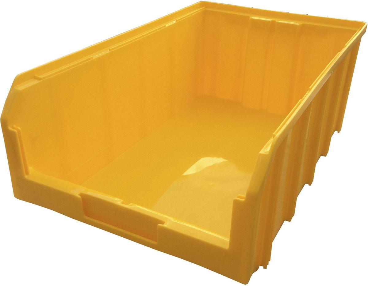 Ящик пластиковый Стелла V-4, цвет: желтый, 50,2 х 30,5 х 18,6 смV-4 желтыйПластиковый ящик Стелла V-4 подходит для хранения мелких предметов, таких как: запчасти, детали, заготовки и многого другого. Контейнер имеет удобную форму. Возможность наращивания передней стенки позволит наполнить ящик до верха и вместить гораздо большее количество деталей. Для быстрого и удобного поиска контейнера в складском помещении на передней стенке предусмотрен карман для размещения ярлыка с описанием. Изделие имеет удобные ручки для перемещения и специальные крепления для наращивания нескольких ящиков в высоту. Объем составляет 20 литров, корпус выполнен из пластика.