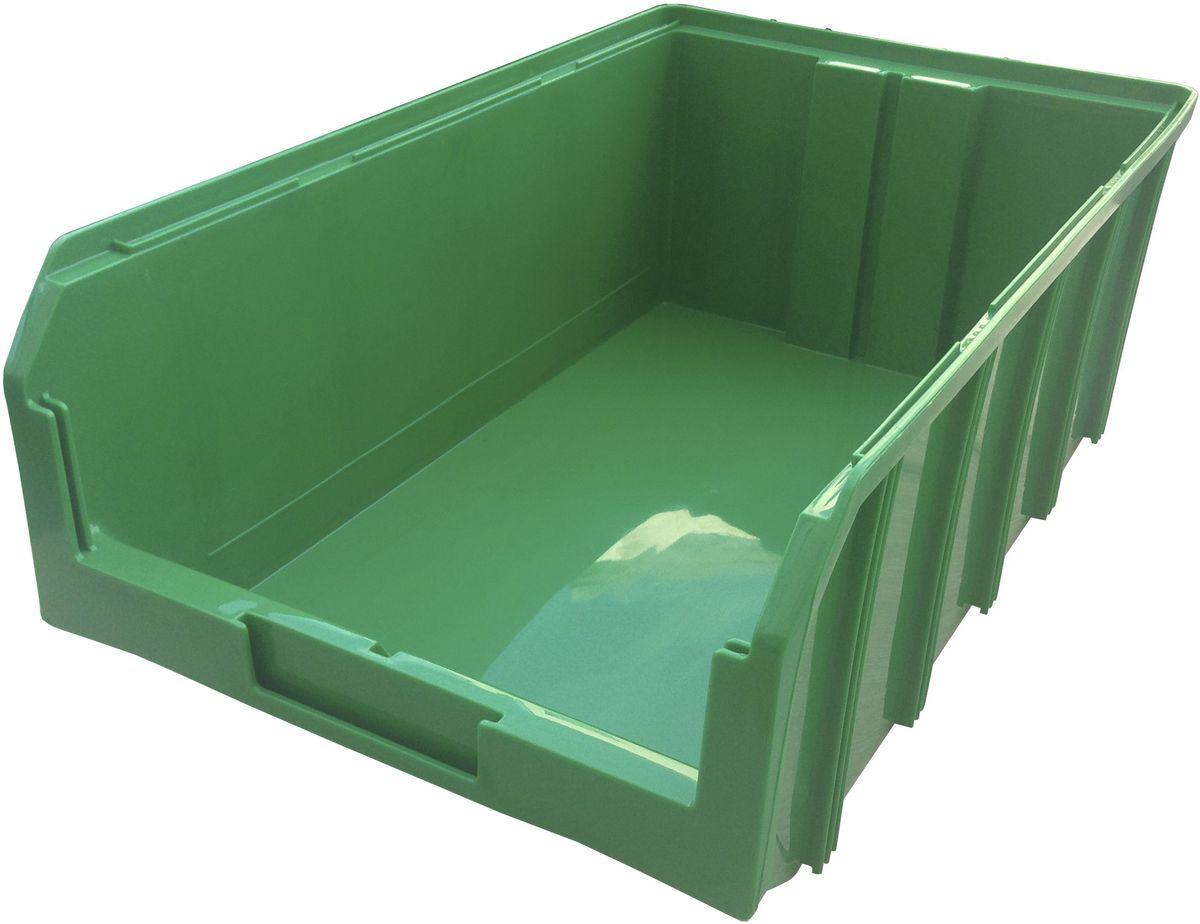 Ящик пластиковый Стелла V-4, цвет: зеленый, 18,6 х 30,5 х 50,2 смRC-100BWCПластиковый ящик V-4 (502 х 305 х 184 мм) подходит для хранения мелких предметов, таких как: запчасти, детали, заготовки и многого другого. Контейнер имеет удобную форму. Возможность наращивания передней стенки позволит наполнить ящик до верха и вместить гораздо большее количество деталей. Для быстрого и удобного поиска контейнера в складском помещении на передней стенке предусмотрен карман для размещения ярлыка с описанием. Изделие имеет удобные ручки для перемещения и специальные крепления для наращивания нескольких ящиков в высоту. Объем составляет 20 литров, корпус выполнен из полипропилена. Вес, кг: 1,20. Габариты, мм: 502 x 305 x 186.