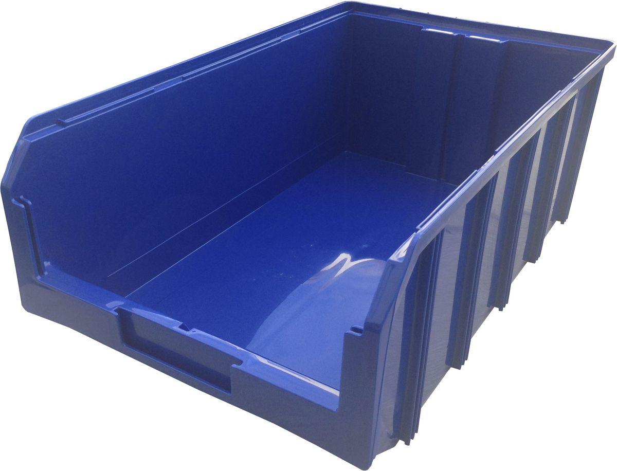 Ящик пластиковый Стелла V-4, цвет: синий, 18,6 х 30,5 х 50,2 смFS-80423Пластиковый ящик V-4 (502 х 305 х 184 мм) подходит для хранения мелких предметов, таких как: запчасти, детали, заготовки и многого другого. Контейнер имеет удобную форму. Возможность наращивания передней стенки позволит наполнить ящик до верха и вместить гораздо большее количество деталей. Для быстрого и удобного поиска контейнера в складском помещении на передней стенке предусмотрен карман для размещения ярлыка с описанием. Изделие имеет удобные ручки для перемещения и специальные крепления для наращивания нескольких ящиков в высоту. Объем составляет 20 литров, корпус выполнен из полипропилена. Вес, кг: 1,20. Габариты, мм: 502 x 305 x 186.
