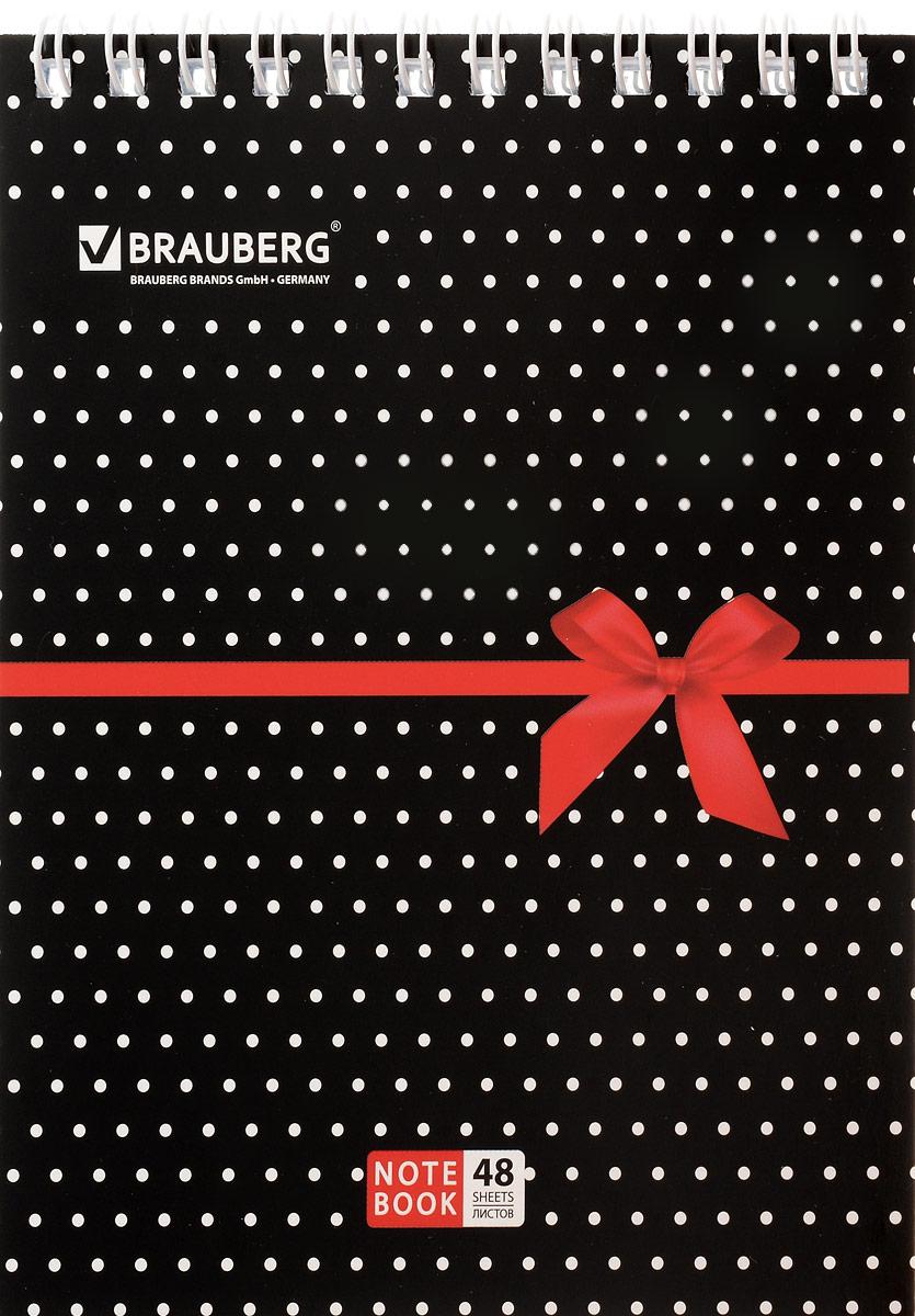 Brauberg Блокнот Стиль Бантик 48 листов в клетку72523WDБлокнот Brauberg на металлическом гребне в картонной обложке предназначен для фиксации необходимых заметок.Внутренний блок состоит из высококачественного офсета в клетку.