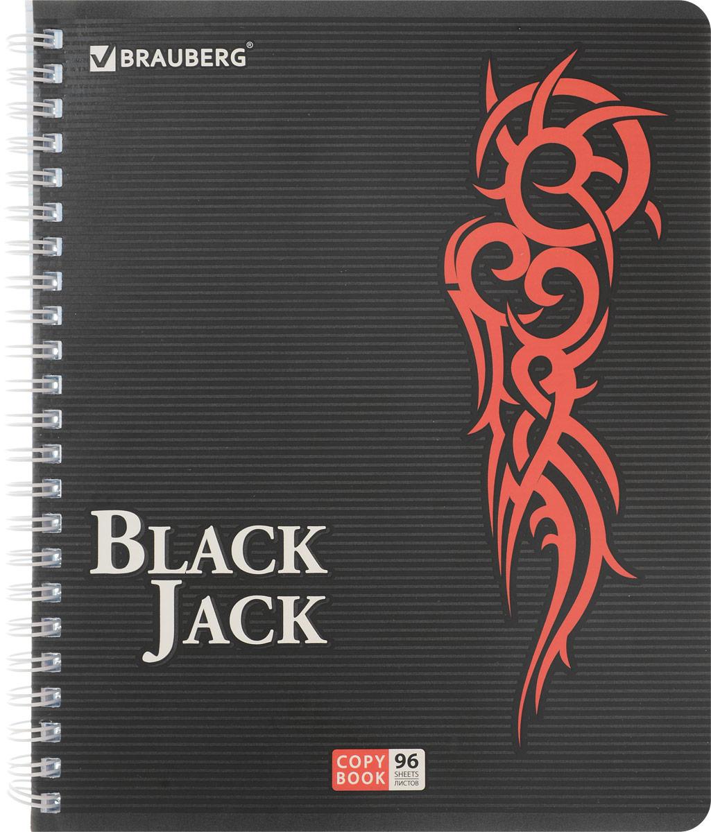 Brauberg Тетрадь Black Jack 96 листов в клетку цвет красный 40185072523WDТетрадь Brauberg Black Jack на металлическом гребне пригодится как школьнику, так и студенту.Такое практичное и надежное крепление позволяет отрывать листы и полностью открывать тетрадь на столе. Обложка изготовлена из прочного картона. Внутренний блок выполнен из белой бумаги в стандартную клетку без полей. Тетрадь содержит 96 листов. Страницы тетради дополнены микроперфорацией для удобного отрыва листов.