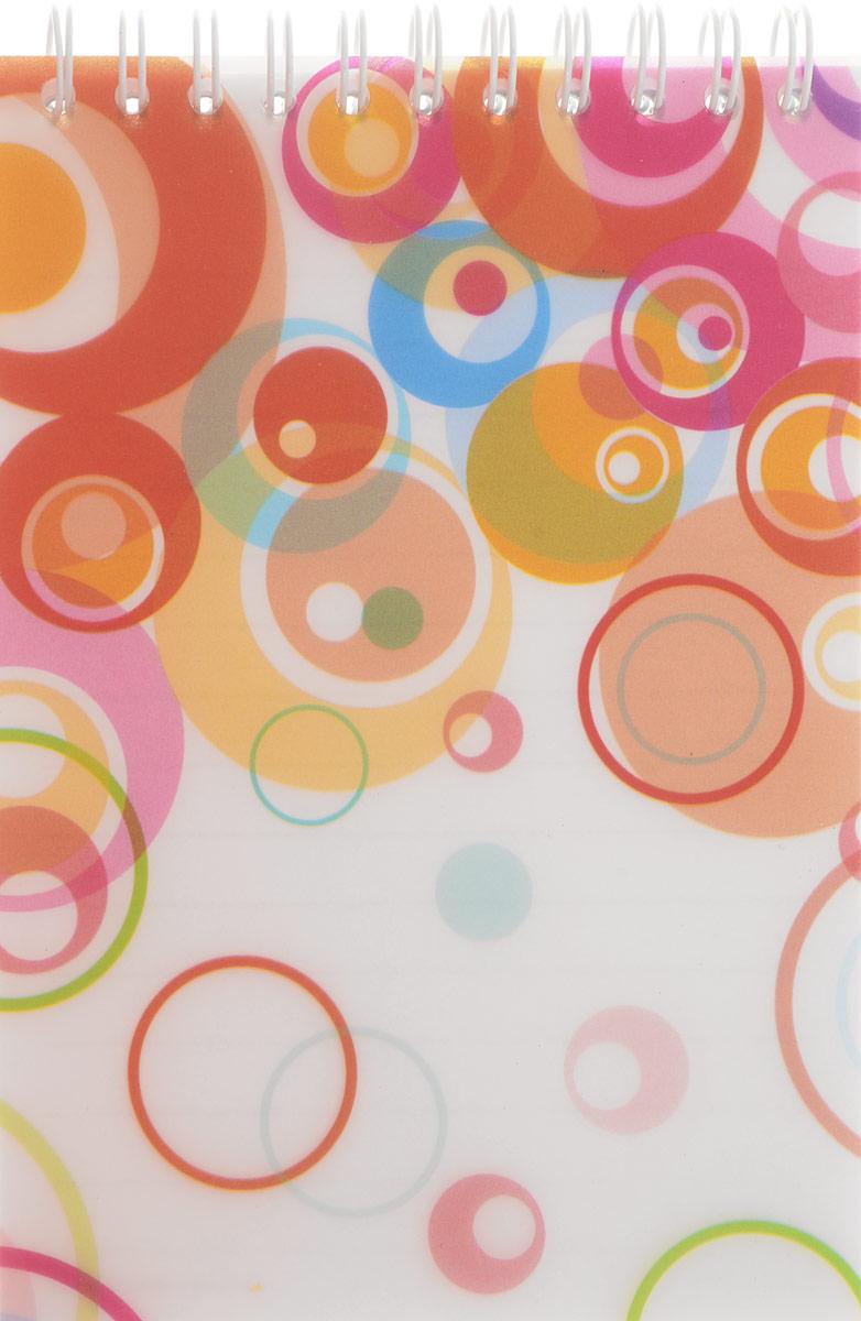 Brauberg Блокнот Пузыри 60 листов в линейку цвет оранжевый белый розовый72523WDБлокнот на гребне Brauberg Пузыри с современным дизайном прекрасно подходит для записей и заметок.Верхний гребень обеспечивает удобство в использовании, а пластиковая обложка спереди защищает бумагу от повреждений.