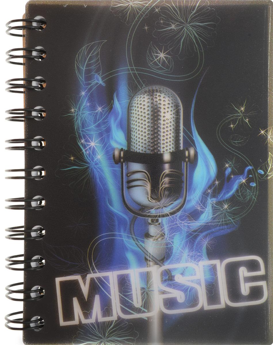 Brauberg Блокнот Music 120 листов в клетку цвет черный синий72523WDМолодежный блокнот Brauberg Music для записей и заметок с динамичным дизайном. Пластиковая обложка долго сохраняет привлекательный внешний вид и защищает бумагу от повреждений.