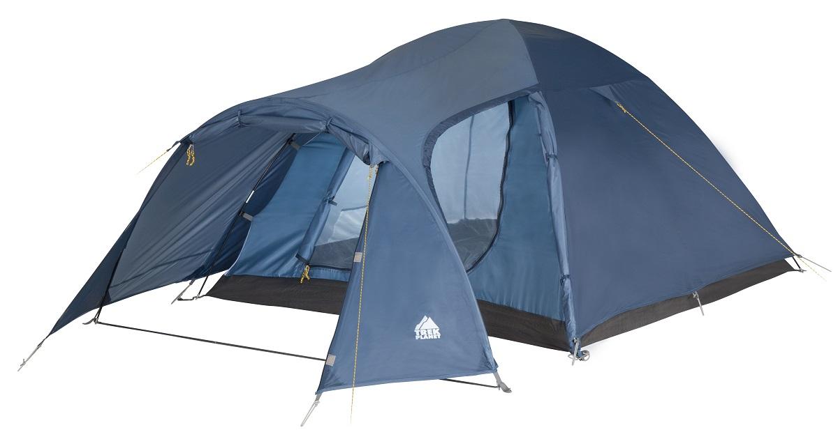 Палатка четырехместная Trek Planet Lima 4, цвет: синий70182(н)Двухслойная четырехместная палатка Trek Planet Lima 4 с хорошей вентиляцией и большим тамбуром, хорошо подойдет для кемпинга выходного дня или отдыха на природе с семьей.Особенности модели:Палатка легко и быстро устанавливается,Тент палатки из полиэстера, с пропиткой PU водостойкостью 3000 мм, надежно защитит от дождя и ветра,Все швы проклеены,Внутренняя палатка, выполненная из дышащего полиэстера, обеспечивает вентиляцию помещения и позволяет конденсату испаряться, не проникая внутрь палатки,Просторный тамбур с двумя входами,Москитная сетка на входе в спальное отделение в полный размер двери,Вентиляционное окно,Каркас выполнен из прочного стеклопластика,Дно изготовлено из прочного армированного полиэтилена,Внутренние карманы для мелочей,Возможность подвески фонаря в палатке.Палатка упакована в сумку-чехол с ручками, застегивающуюся на застежку-молнию. Размер палатки (в собранном виде): 20 см х 20 см х 62 см.
