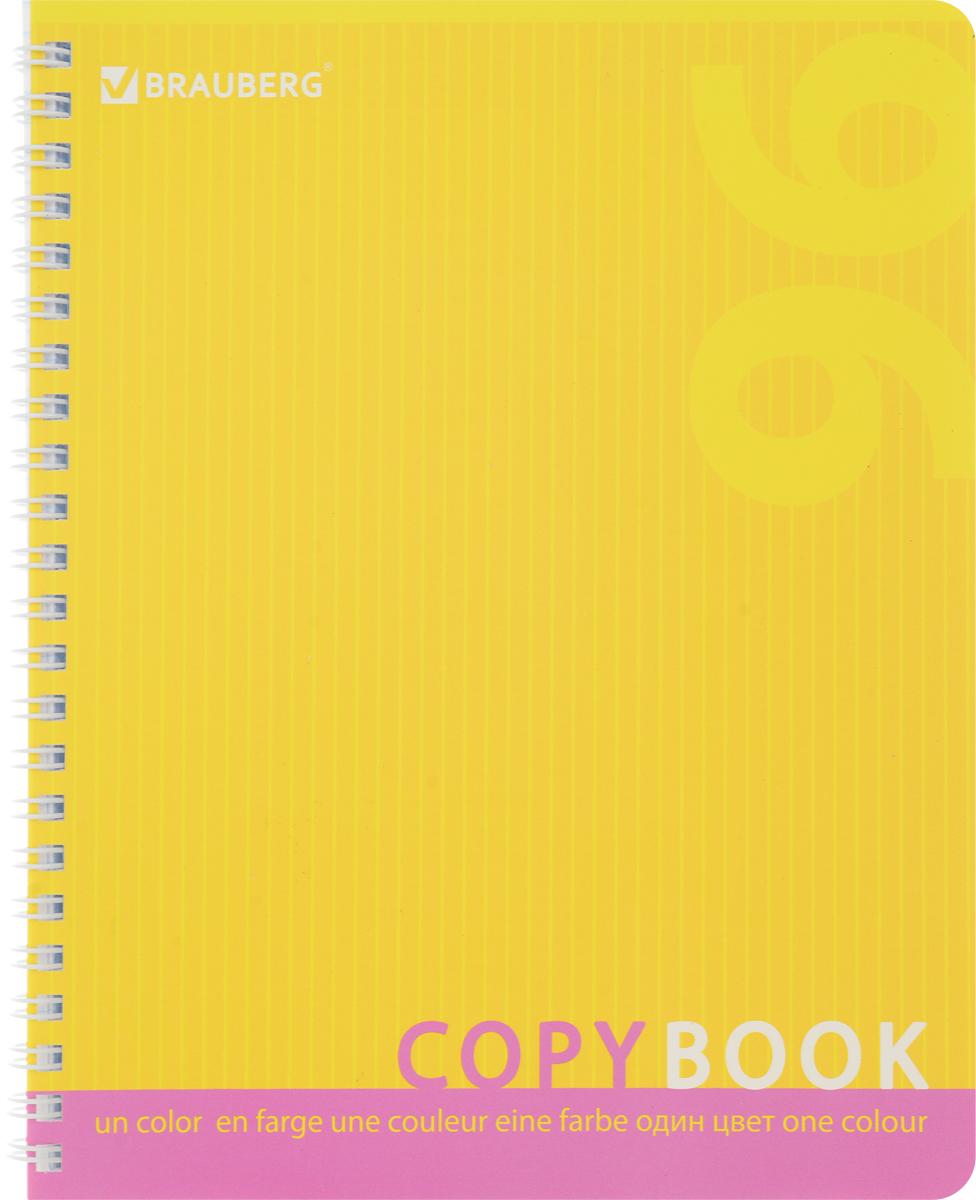 Brauberg Тетрадь One Colour 96 листов в клетку цвет желтый 40187872523WDТетрадь Brauberg One Colour на металлическом гребне пригодится как школьнику, так и студенту.Такое практичное и надежное крепление позволяет отрывать листы и полностью открывать тетрадь на столе. Обложка изготовлена из импортного мелованного картона. Внутренний блок выполнен из высококачественного офсета в стандартную клетку без полей. Тетрадь содержит 96 листов. Страницы тетради дополнены микроперфорацией для удобного отрыва листов.