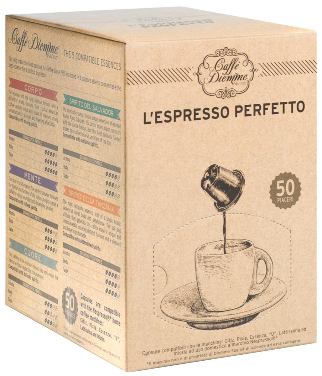 Diemme Caffe Cuore кофе в капсулах, 50 шт477136Аромат Diemme Caffe Cuore, не содержащий кофеина, позволяет не отказываться от богатой палитры аромата натурального кофе, и приносимого им удовольствия. Этот аромат предназначен для деликатных особ.Уважаемые клиенты! Обращаем ваше внимание на то, что упаковка может иметь несколько видов дизайна. Поставка осуществляется в зависимости от наличия на складе.