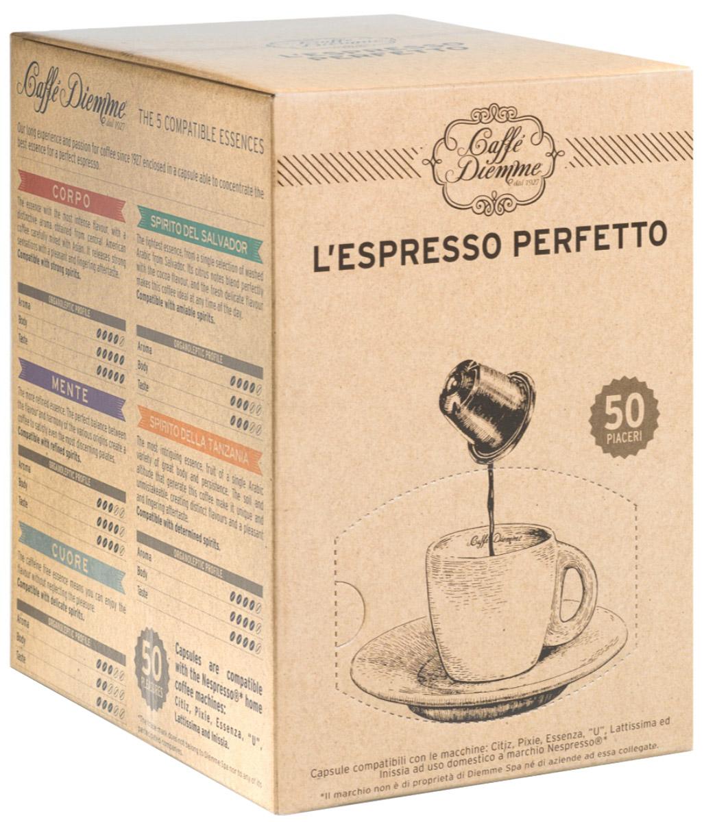 Diemme Caffe Mente кофе в капсулах, 50 шт8003866002104Diemme Caffe Mente наиболее изысканный аромат. Мудрое и гармоничное сочетание зерен различных сортов создало смесь с насыщенным и многогранным вкусом, способную удовлетворить запросы самых требовательных любителей и гурманов. Это достойный вариант для утонченных натур.Уважаемые клиенты! Обращаем ваше внимание на то, что упаковка может иметь несколько видов дизайна. Поставка осуществляется в зависимости от наличия на складе.